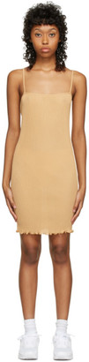 PRISCAVera SSENSE Exclusive Beige Cami Mini Dress