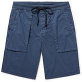 James Perse Slim-fit Stretch-cotton Poplin Cargo Shorts - Storm blue
