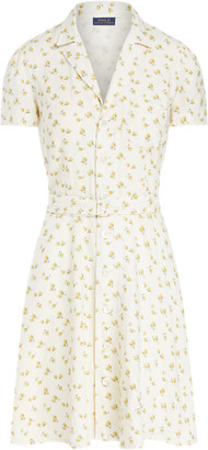 Ralph Lauren Floral Belted Linen Dress
