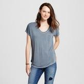Women's Short Sleeve Drapey Tee - Mossimo Supply Co. (Juniors')