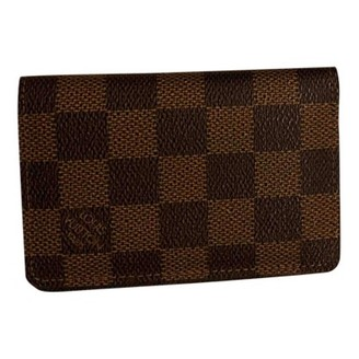 Louis Vuitton Pocket Organizer Brown Cloth Small bags, wallets & cases