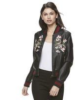 Candies Juniors' Candie's® Floral Faux Leather Jacket