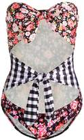Jaded London DOUBLE BOW Swimsuit black/pink