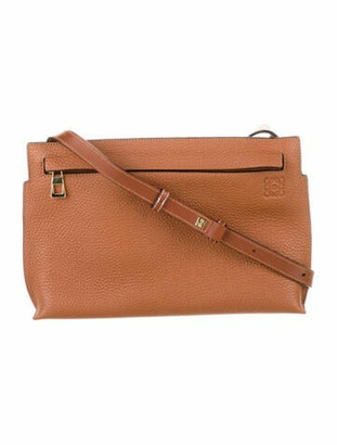 Loewe Leather T Pouch Brown