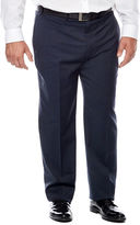 Claiborne Blue Neat Flat-Front Suit Pants - Big & Tall