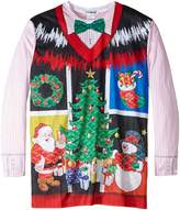 Faux Real Men's Big-Tall Ugly Noel X-Mas Vest Long Sleeve T-Shirt, Multi