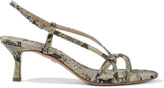 Sam Edelman Judy Faux Snake-effect Leather Slingback Sandals