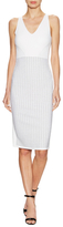 Narciso Rodriguez Intarsia Skirt Sheath Dress