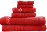 Asstd National Brand Diamond Embroidered Egyptian Cotton 6-pc. Towel Set