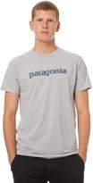 Patagonia Text Logo Mens Tee Grey