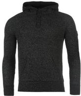 Firetrap Lined Hooded Over The Head Knit Mens