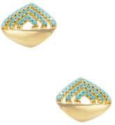 Noir Curved Trapezoid Resin Stud Earrings
