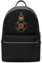 Dolce & Gabbana Black Crown Crest Backpack