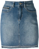 Calvin Klein Jeans high-waisted denim skirt - women - Cotton/Polyester/Spandex/Elastane - 26