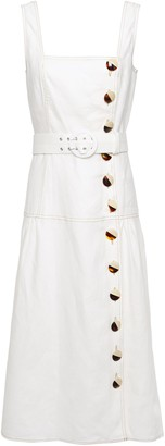 Nicholas Button-detailed Linen Midi Dress