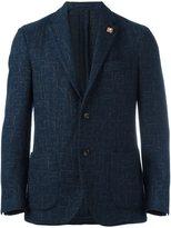 Lardini abstract pattern blazer - men - Nylon/Polyester/Viscose/Wool - 50