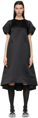 Comme des Garcons Black Satin Puff Sleeve Dress