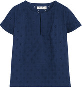 MiH Jeans Broderie anglaise cotton top