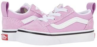 Vans Kids Old Skool Elastic Lace (Infant/Toddler) (Orchid/True White) Girl's Shoes