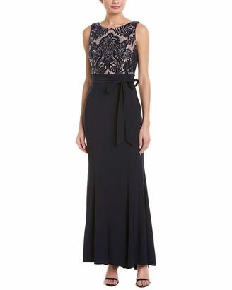 R & M Richards R&M Richards Women's Sequins Bodice Long Dress