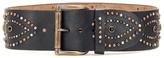 Ralph Lauren 2 7/8 Contour Studded Leather Waist Belt