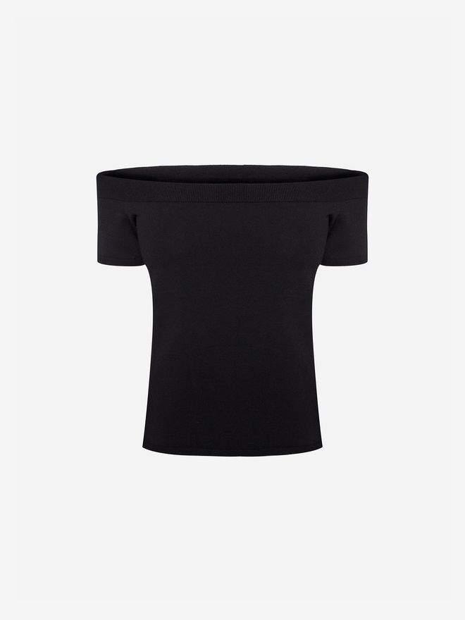 Alexander McQueen Off The Shoulder Knit Top