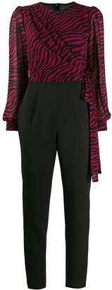 MICHAEL Michael Kors Zebra Print Jumpsuit