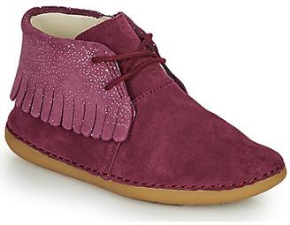 Clarks SKYLARK FORM K girls's Mid Boots in Purple