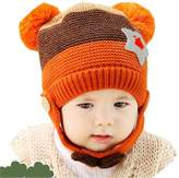 Landfox Toddlers Baby Boy Girl Kids Infant Winter Earflap Knitted Warm Cap Hat