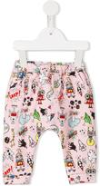 Fendi Monster space print leggings - kids - Cotton/Spandex/Elastane - 6 mth