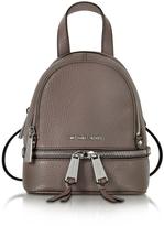 Michael Kors Rhea Zip X-Small Cinder Leather Messenger Backpack