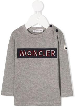 Moncler Enfant Logo Print Long-Sleeved Top