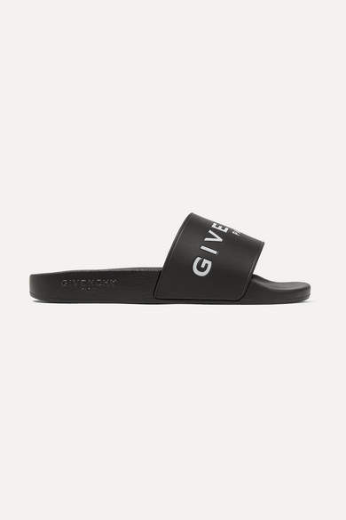 Givenchy Logo-print Rubber Slides - Black