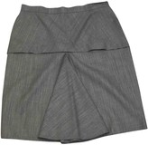 Alaia Grey Wool Skirt for Women Vintage
