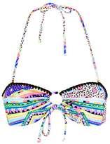 Topshop Aztec blanket stitch bandeau bikini top