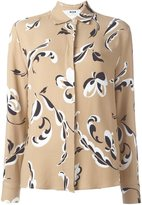 MSGM floral print shirt - women - Polyester/Viscose - 42