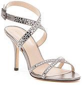 Pelle Moda Katya Satin & Leather Buckled Dress Sandals