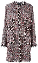 Giambattista Valli collarless tweed coat - women - Cotton/Polyamide/Polyester/Virgin Wool - 44