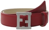 Fendi Leather Belt w/ Logo Buckle Boy's Belts
