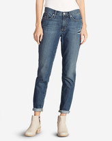 Eddie Bauer Women's Boyfriend Slim Jeans - Destroyed
