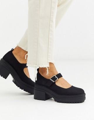 Asos DESIGN Shaky chunky mary-jane heels in black