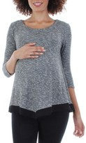 Everly Grey Women's Regina Maternity Swing Top