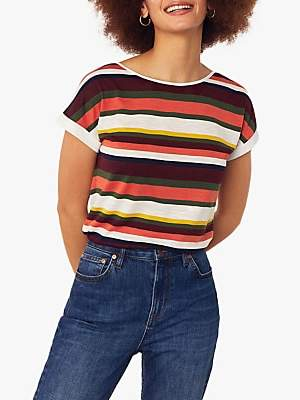 Oasis Crayon Rainbow Stripe T-Shirt, Multi