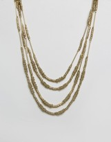 Raga Multi Strand Gold Necklace
