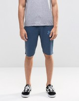 Blend of America Raw Hem Sweat Shorts in Blue