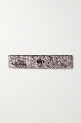 Slip The Glam Band Leopard-print Mulberry Silk Headband - Leopard print