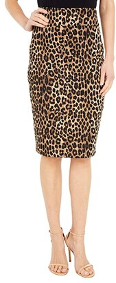 MICHAEL Michael Kors Cheetah Pencil Skirt (Dark Camel) Women's Skirt