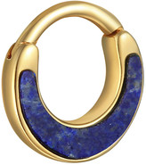 Pamela Love Lapis Inlay Clicker Single Hoop Earring - Yellow Gold