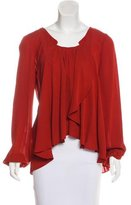The Addison Story Silk Long Sleeve Top