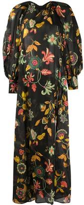 Anjuna Draped Cold-Shoulder Dress